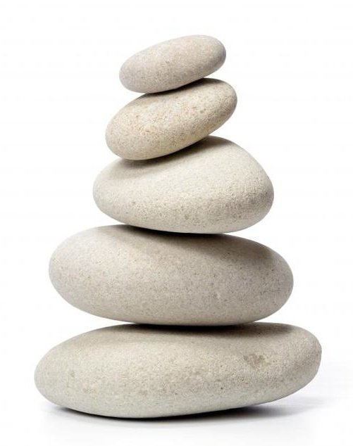 white pebbles balancing on each other